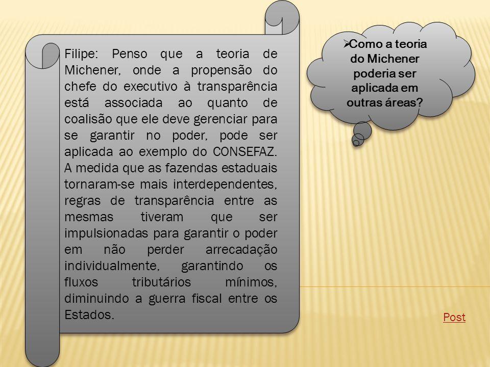  Como a teoria do Michener poderia ser aplicada em outras áreas.