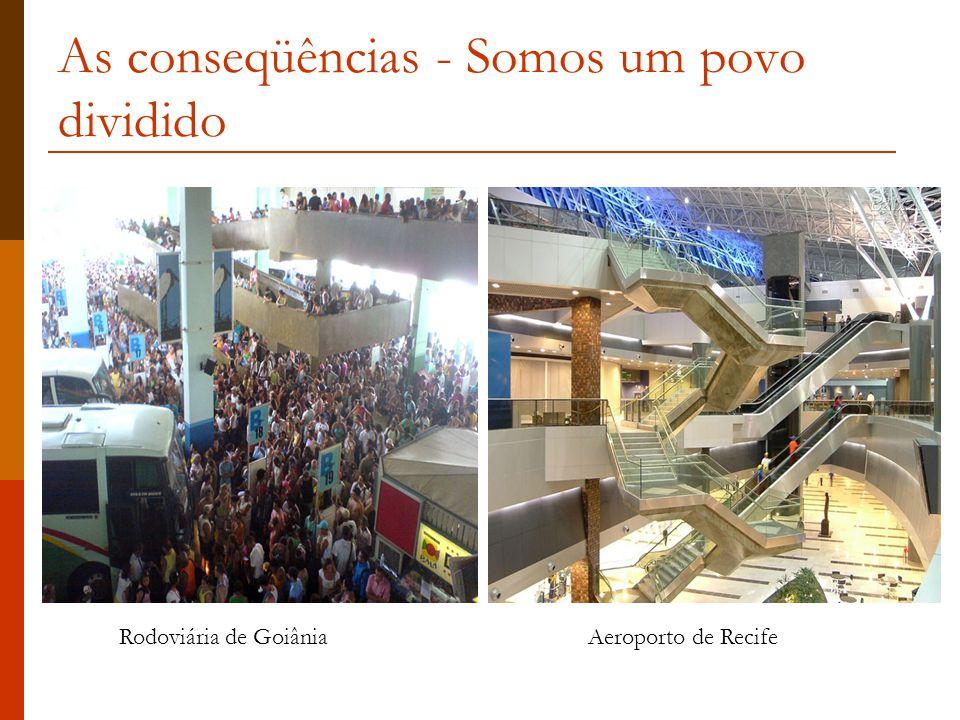 As conseqüências - Somos um povo dividido Rodoviária de GoiâniaAeroporto de Recife