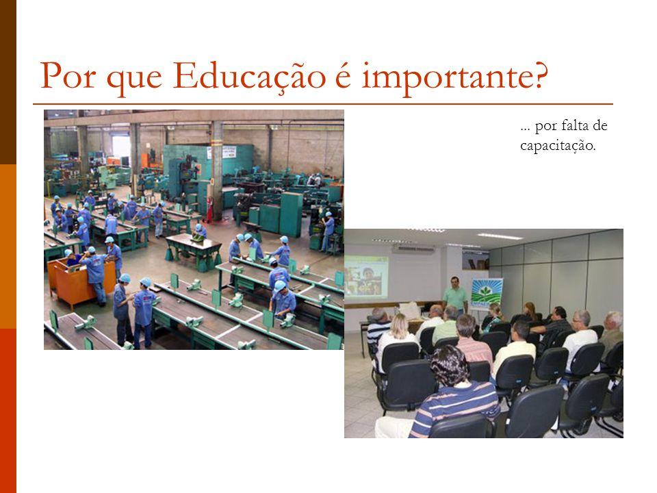 Por que Educação é importante?... por falta de capacitação.