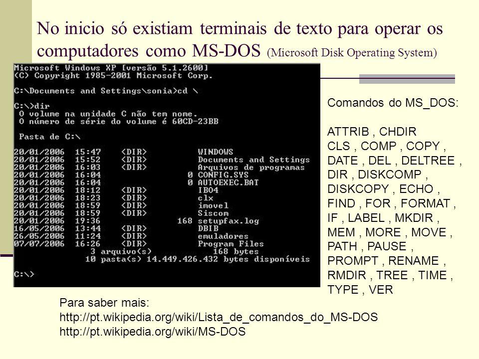 Ainda hoje é usado principalmente e sistemas baseados no Unix ou micros antigos sem muitos recursos gráficos É ainda muito comum encontrar programas que rodam ainda em modo texto em farmácias, supermercados, estacionamentos, pequenos negócios ou mesmo em bancos que ainda possuem muita coisa em COBOL que rodam através dos famosos terminais 3270.