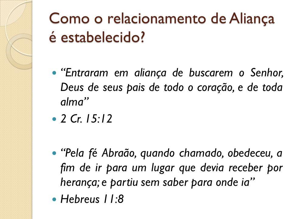 Como o relacionamento de Aliança é estabelecido.