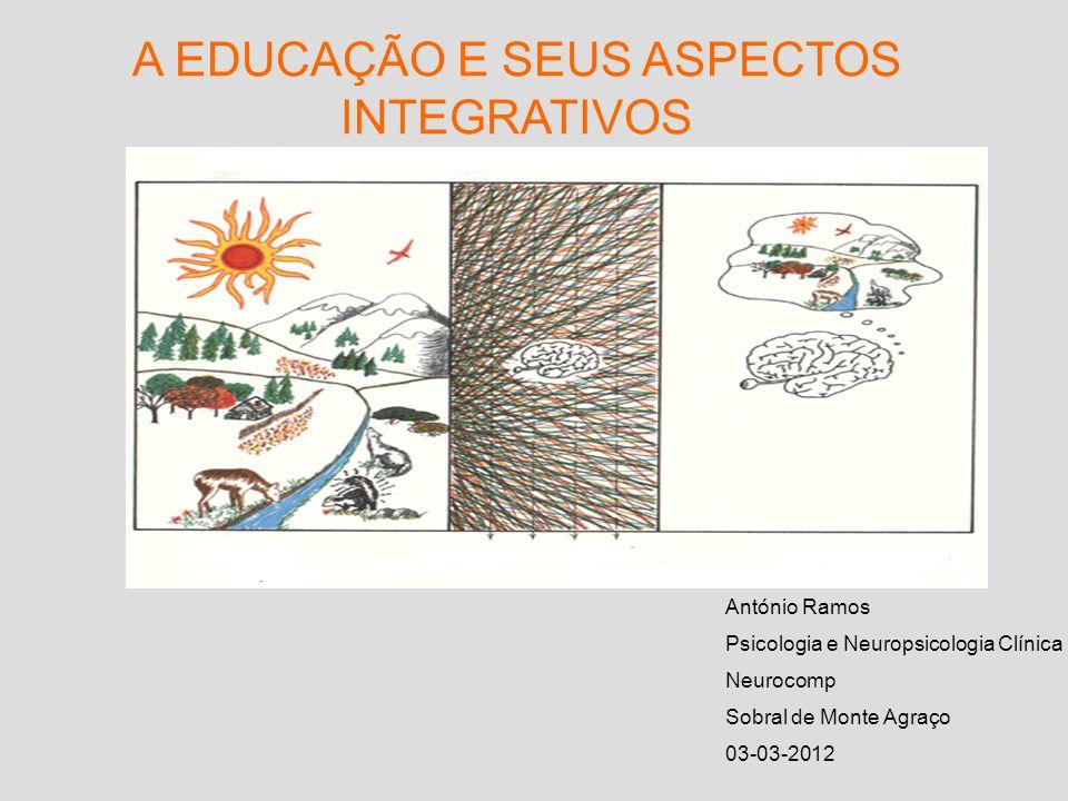 A EDUCAÇÃO E SEUS ASPECTOS INTEGRATIVOS António Ramos Psicologia e Neuropsicologia Clínica Neurocomp Sobral de Monte Agraço 03-03-2012