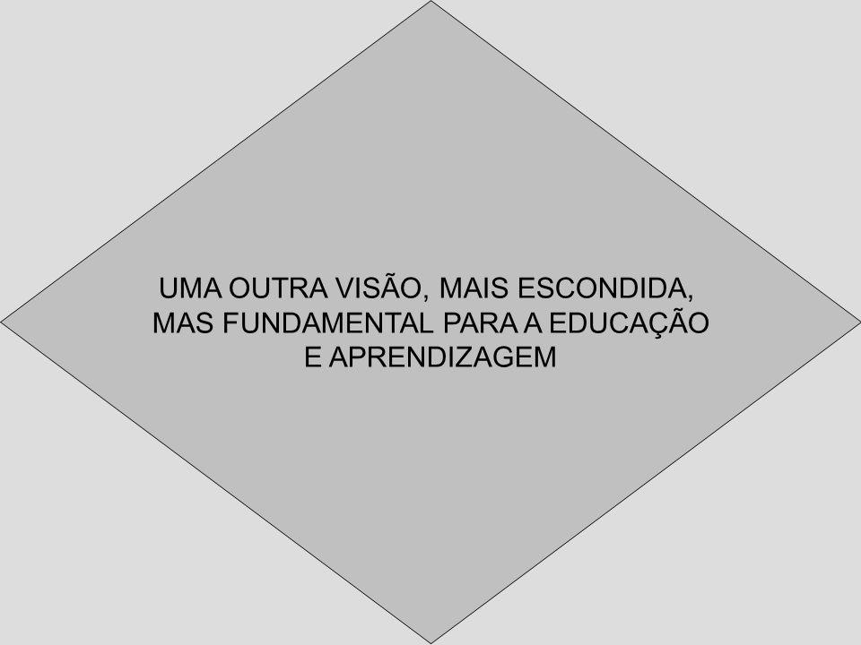 UMA OUTRA VISÃO, MAIS ESCONDIDA, MAS FUNDAMENTAL PARA A EDUCAÇÃO E APRENDIZAGEM