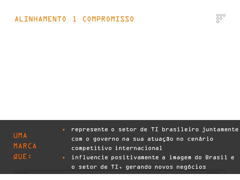 FutureBrand ®BRASSCOM9 • represente o setor de TI brasileiro juntamente com o governo na sua atuação no cenário competitivo internacional • influencie