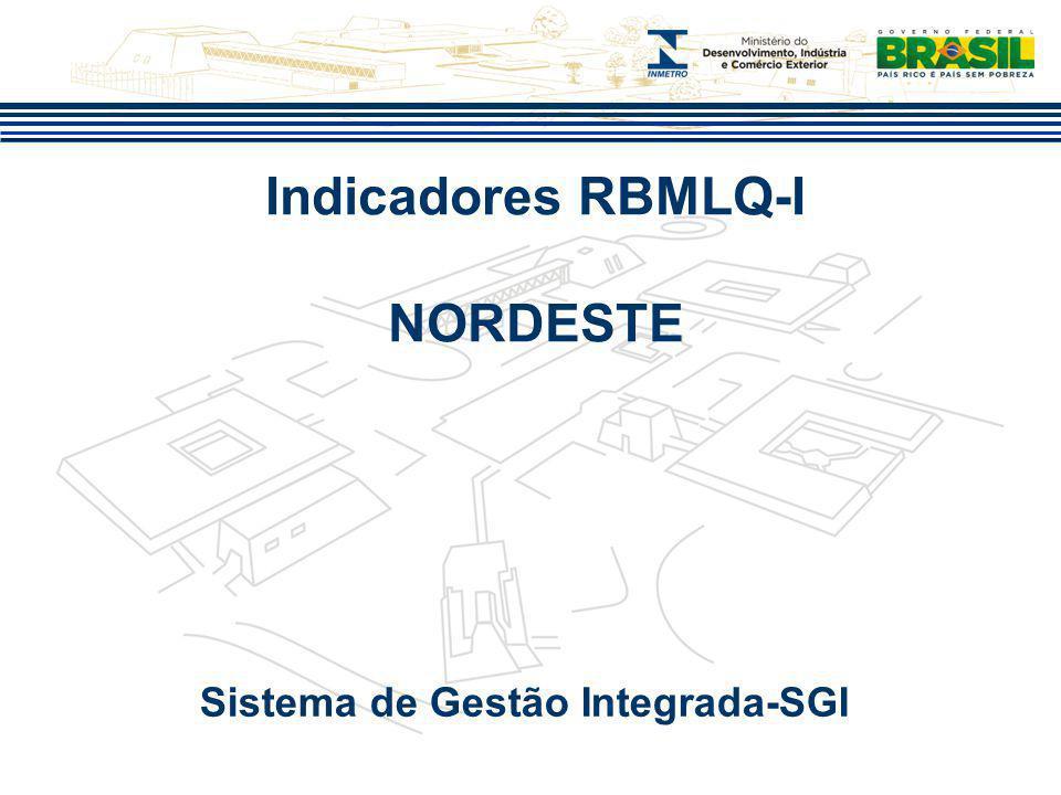Indicadores RBMLQ-I NORDESTE Sistema de Gestão Integrada-SGI