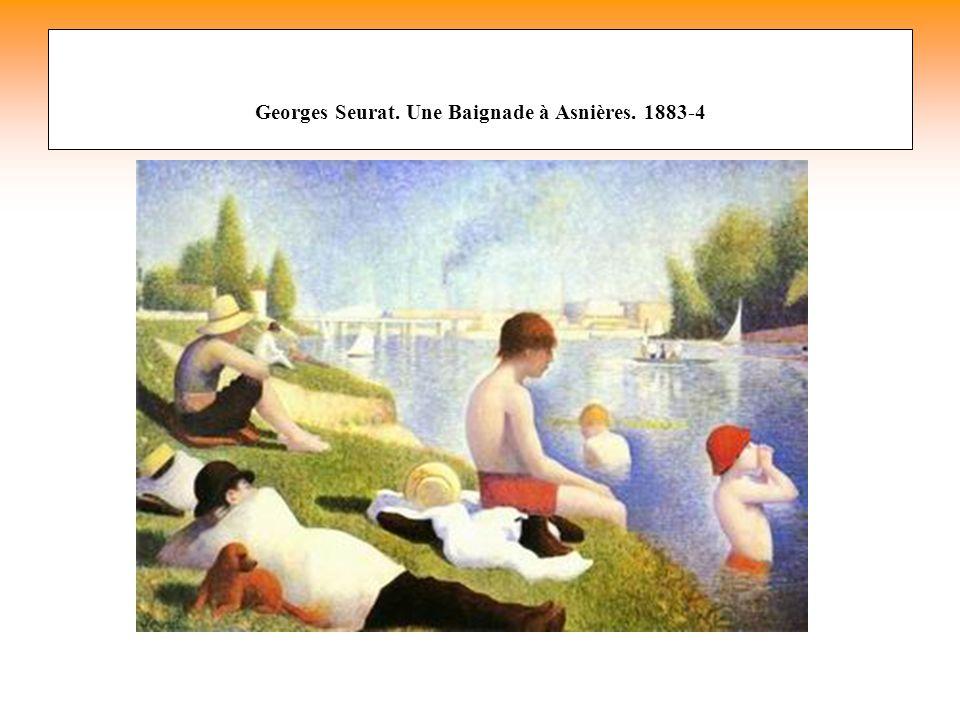 Georges Seurat. Une Baignade à Asnières. 1883-4