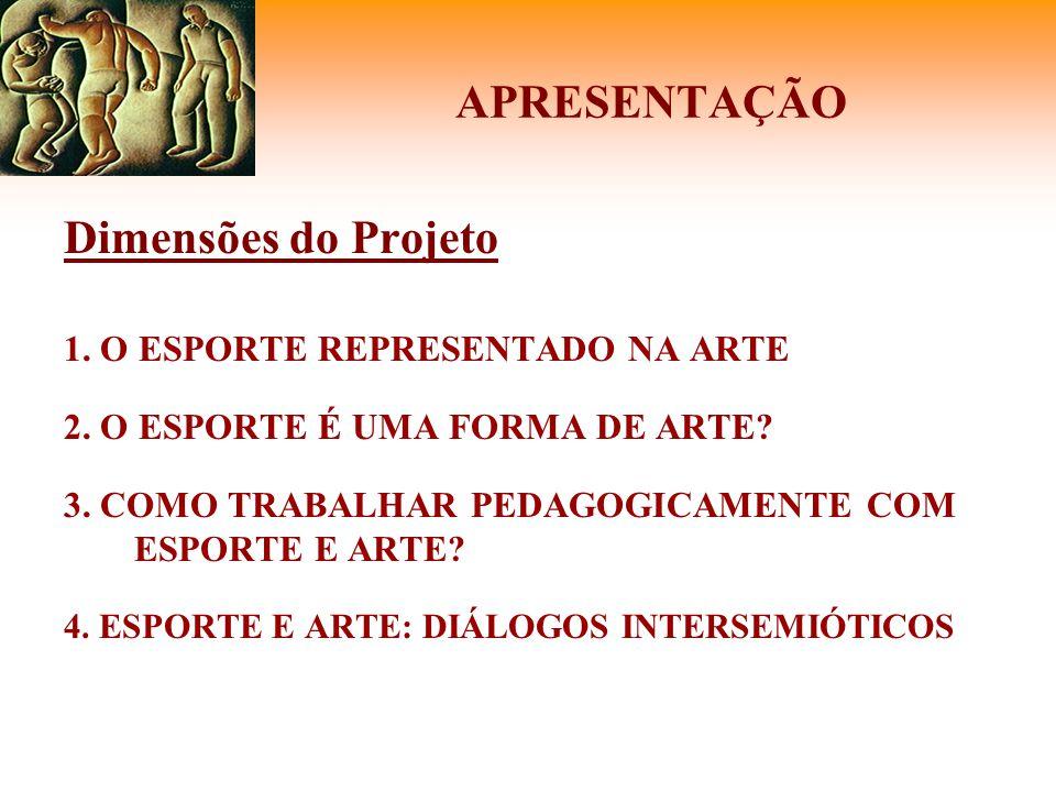 APRESENTAÇÃO Dimensões do Projeto * Intuitos: a)Catalogar obras; b)Desenvolver estratégias pedagógicas; c)Discutir diálogos intersemióticos; d)Discutir representações.