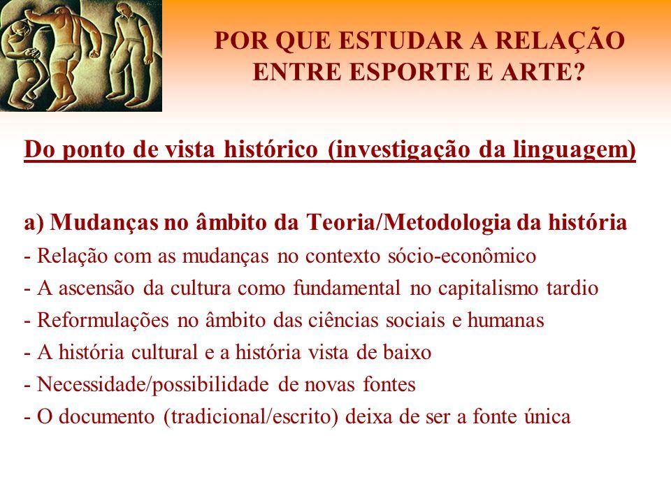 ESPORTE E ARTES PLÁSTICAS: DIÁLOGOS
