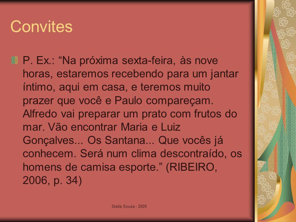Stella Sousa - 2009 Convites P.