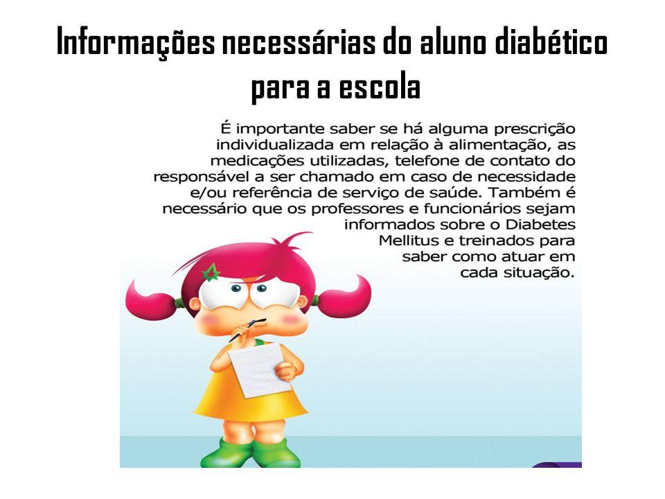 Aplicação de Insulina Algumas crianças precisam realizar aplicações de insulina nos períodos que estão na escola.