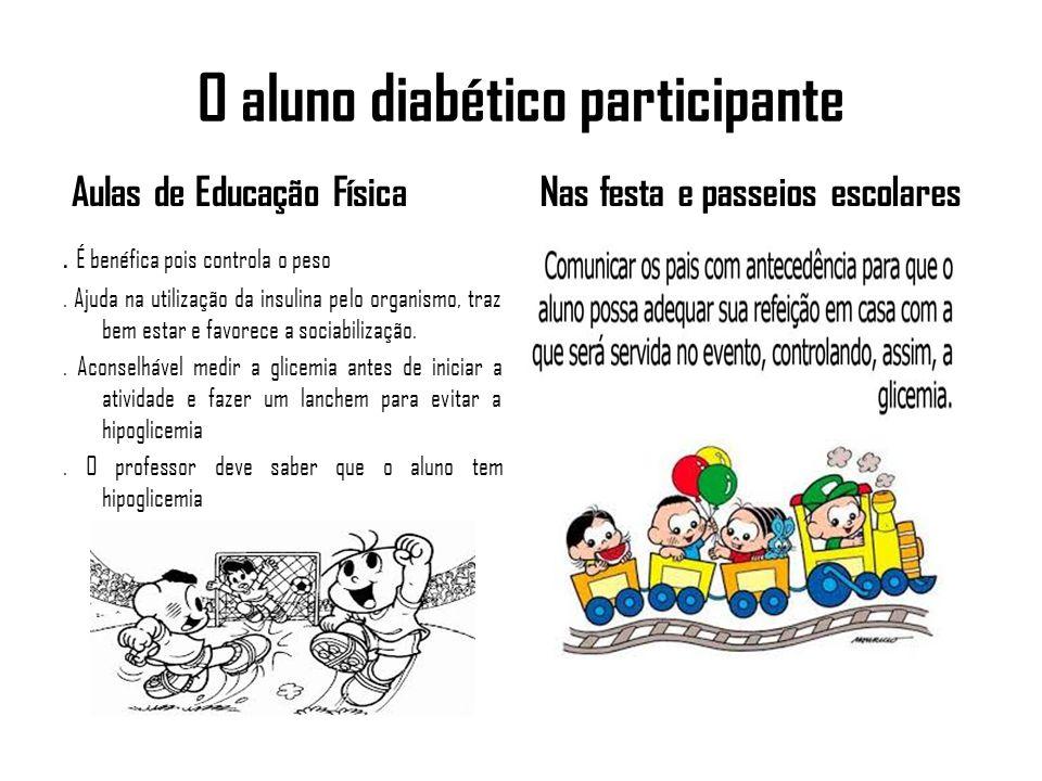Complicações mais comuns que o aluno diabético pode apresentar na escola.