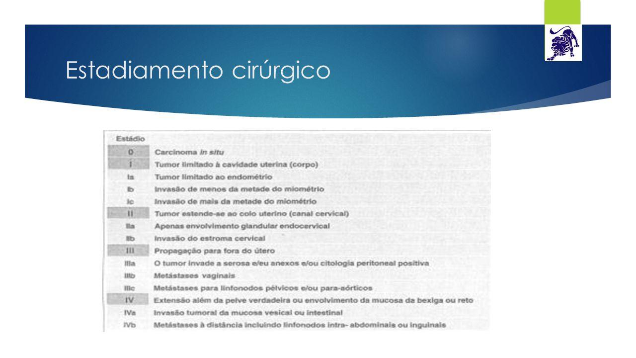 Hiperplasia de endométrio  Hiperplasia simples sem atipia: alterações na arquitetura e tamanho das glândulas, com formações císticas  Hiperplasia complexa sem atipia: aumento no número e tamanho das glândulas, figuras mitóticas  Hiperplasia simples com atipia: células sem polaridades com nucléolos proeminentes  Hiperplasia complexa com atipia: sobreposição considerável com o adenocarcinoma endometrióide diferenciado