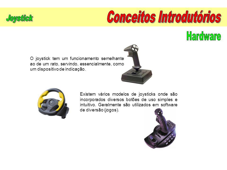 O joystick tem um funcionamento semelhante ao de um rato, servindo, essencialmente, como um dispositivo de indicação. Existem vários modelos de joysti