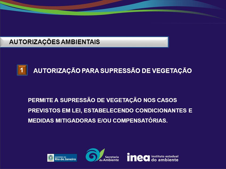 AUTORIZAÇÕES AMBIENTAIS 2 AUTORIZAÇÃO PARA INTERVENÇÃO EM APP PERMITE A EXECUÇÃO DE ATIVIDADES OU EMPREENDIMENTOS QUE INTERFIRAM,DE ALGUMA FORMA, EM ÁREA DE PRESERVAÇÃO PERMANENTE (APP), SOMENTE QUANDO ENQUADRADOS NOS CASOS EXCEPCIONAIS PREVISTOS NA LEGISLAÇÃO.