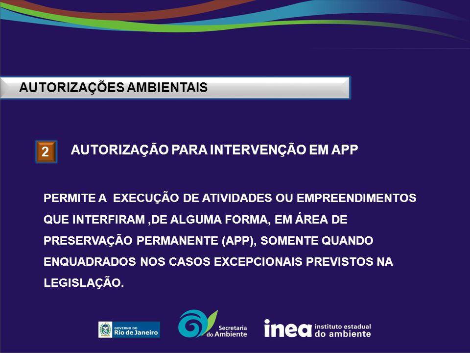 AUTORIZAÇÕES AMBIENTAIS 3 AUTORIZAÇÃO PARA MOVIMENTAÇÃO DE RESÍDUOS AUTORIZAÇÃO EMITIDA AO INTERESSADO QUE PRETENDE MOVIMENTAR RESÍDUOS DE OUTROS ESTADOS DA FEDERAÇÃO, PARA SEREM DESTINADOS NOS SISTEMAS LICENCIADOS NO ESTADO DO RIO DE JANEIRO.