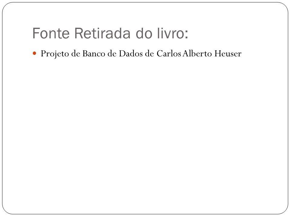 Fonte Retirada do livro:  Projeto de Banco de Dados de Carlos Alberto Heuser