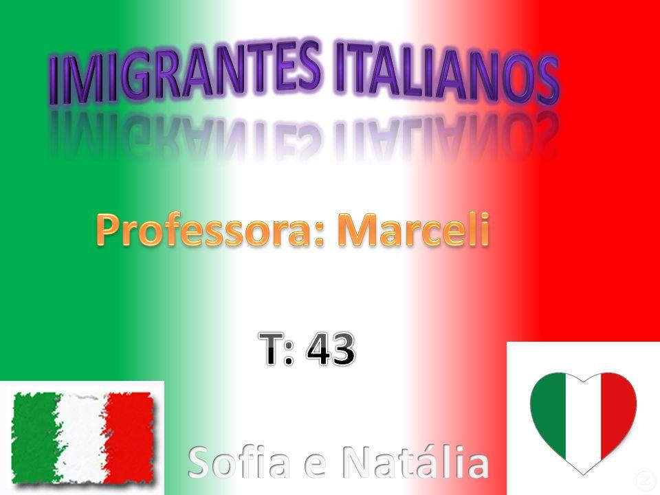 Como e porque vieram Italianos começam a chegar em 1875.