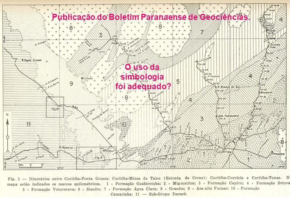 Publicação do Boletim Paranaense de Geociências. O uso da simbologia foi adequado?
