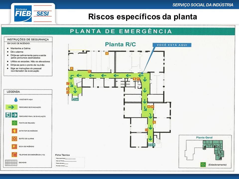 Riscos específicos da planta