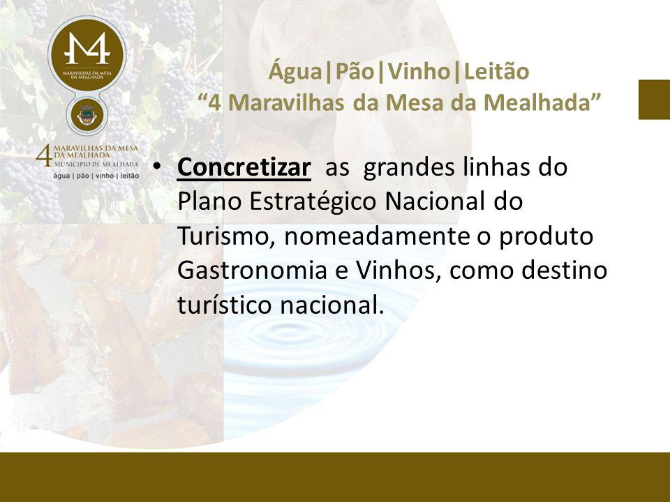 • Concretizar as grandes linhas do Plano Estratégico Nacional do Turismo, nomeadamente o produto Gastronomia e Vinhos, como destino turístico nacional.