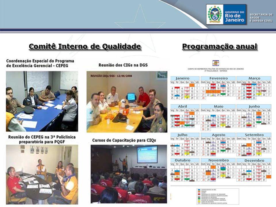 Comitê Interno de Qualidade Programação anual