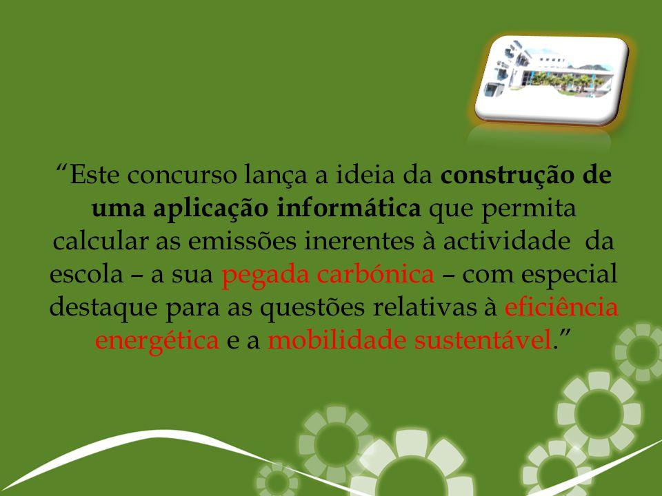 A primeira fase do projecto consistiu na recolha de toda a informação pertinente sobre a temática referente ao concurso, logo a pesquisa inicial incidiu nos temas:  Pegada Carbónica   Eficiência Energética   Mobilidade Sustentável   Política dos 3R's .