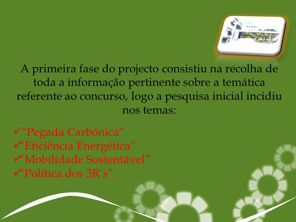 A primeira fase do projecto consistiu na recolha de toda a informação pertinente sobre a temática referente ao concurso, logo a pesquisa inicial incid
