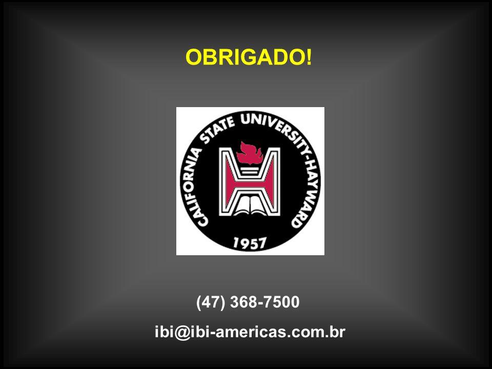 OBRIGADO! (47) 368-7500 ibi@ibi-americas.com.br