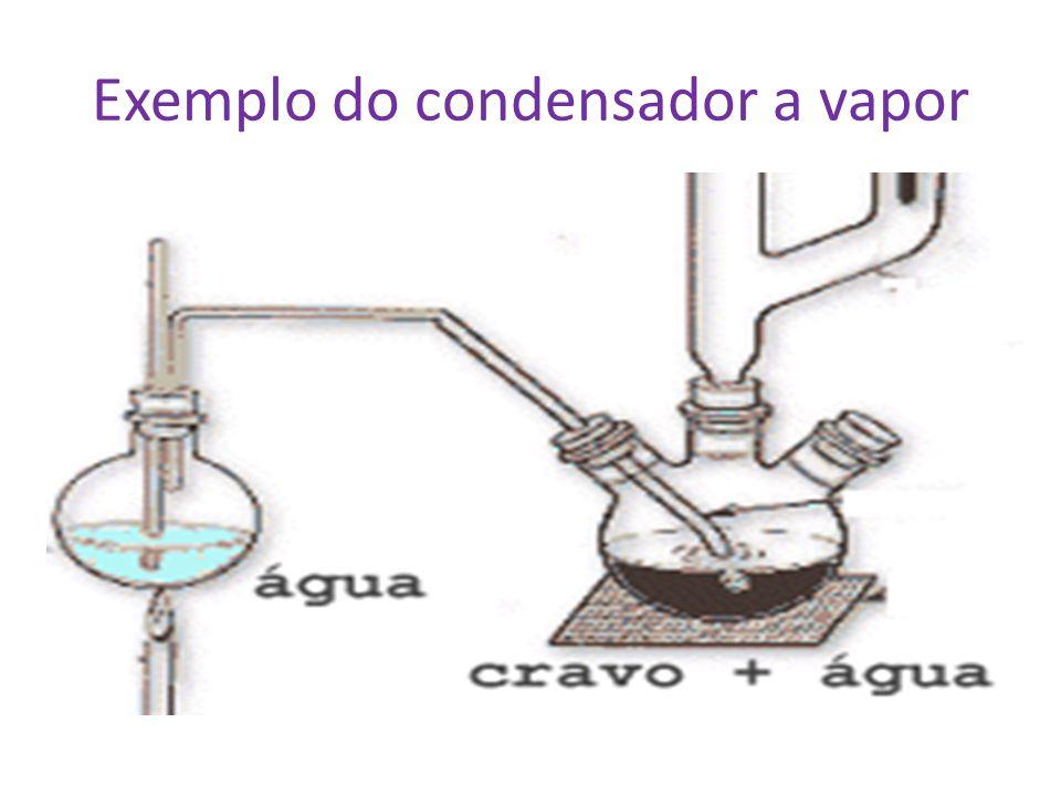 Exemplo do condensador a vapor
