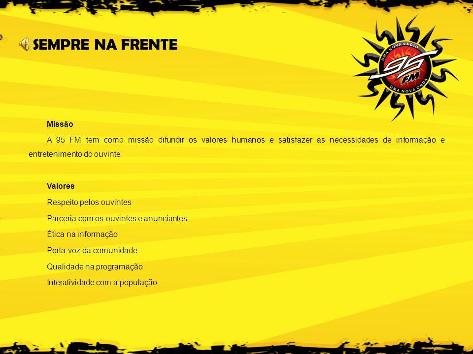 RÁDIO CIDADE SOL LTDA – 95FM END: Av.