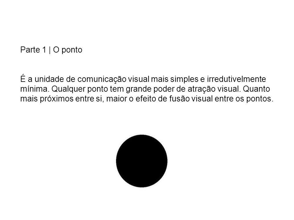 Parte 1 | O ponto É a unidade de comunicação visual mais simples e irredutivelmente mínima. Qualquer ponto tem grande poder de atração visual. Quanto