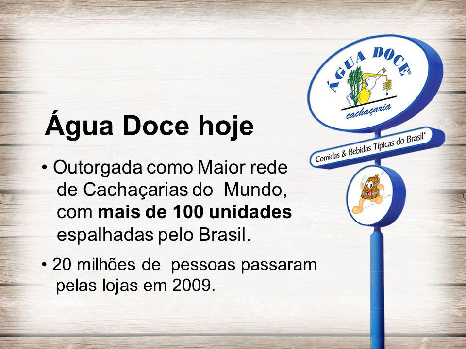 • Outorgada como Maior rede de Cachaçarias do Mundo, com mais de 100 unidades espalhadas pelo Brasil. • 20 milhões de pessoas passaram pelas lojas em