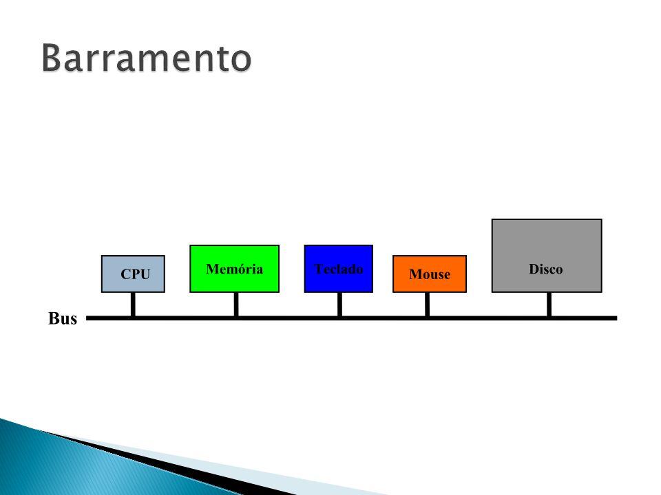  Centralizado ◦ Dispositivo de Hardware (Controlador de Barramento ) que é responsável por alocar tempo de utilização do barramento a cada módulo ◦ Pode fazer parte do processador  Distribuído ◦ Cada módulo tem uma lógica de controle de acesso ◦ Os módulos agem de forma conjunta para compartilhar o barramento