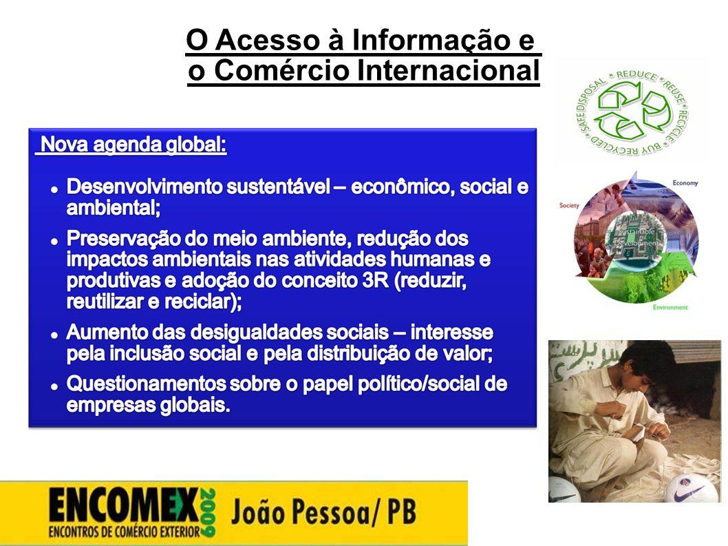 O Acesso à Informação e o Comércio Internacional