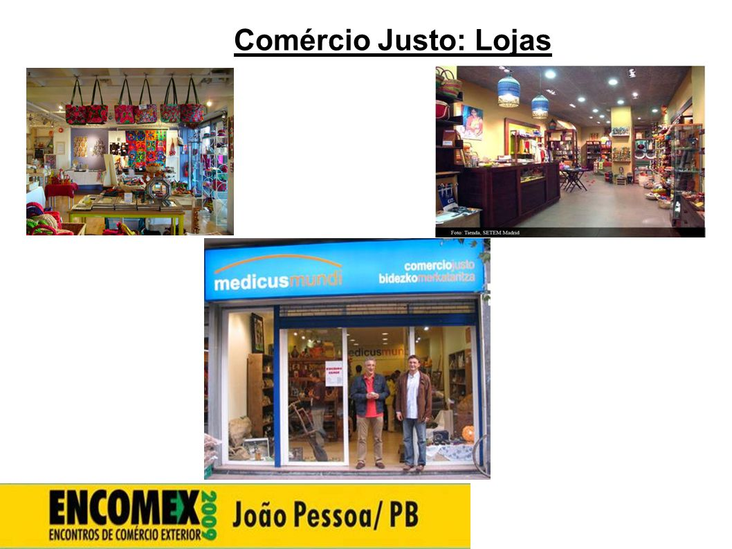 Comércio Justo: Lojas