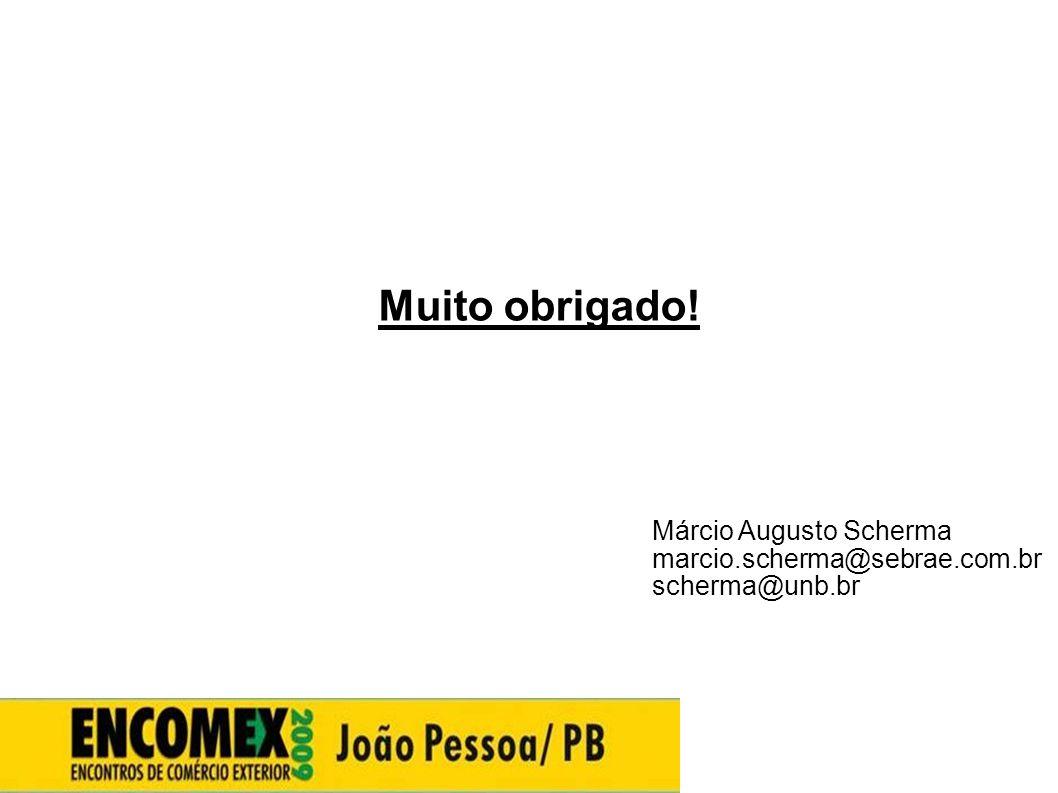 Muito obrigado! Márcio Augusto Scherma marcio.scherma@sebrae.com.br scherma@unb.br