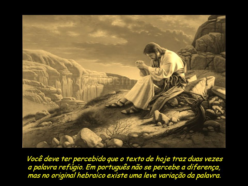 Não importa quão escuro pareça o horizonte ou quão escabrosa a estrada,lembre-se ao longo do dia que O Senhor é também alto refúgio para o oprimido, refúgio nas horas de tribulação .