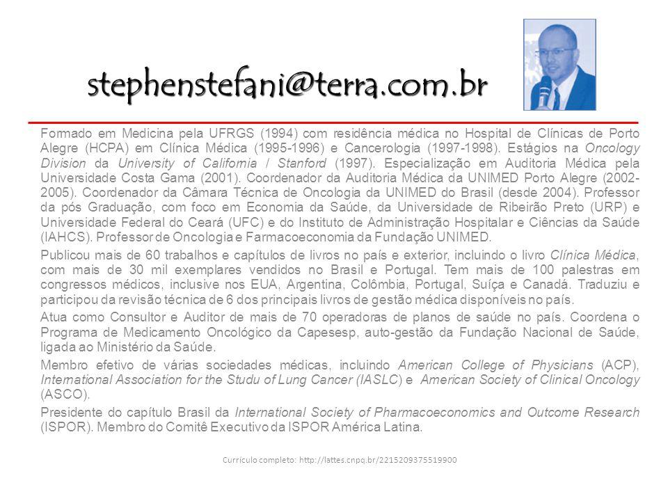 Formado em Medicina pela UFRGS (1994) com residência médica no Hospital de Clínicas de Porto Alegre (HCPA) em Clínica Médica (1995-1996) e Cancerologi