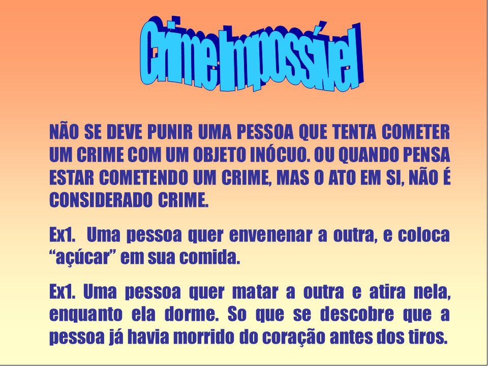 NÃO SE DEVE PUNIR UMA PESSOA QUE TENTA COMETER UM CRIME COM UM OBJETO INÓCUO. OU QUANDO PENSA ESTAR COMETENDO UM CRIME, MAS O ATO EM SI, NÃO É CONSIDE