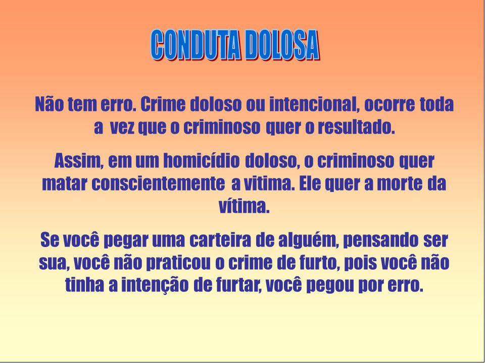 Não tem erro.Crime doloso ou intencional, ocorre toda a vez que o criminoso quer o resultado.