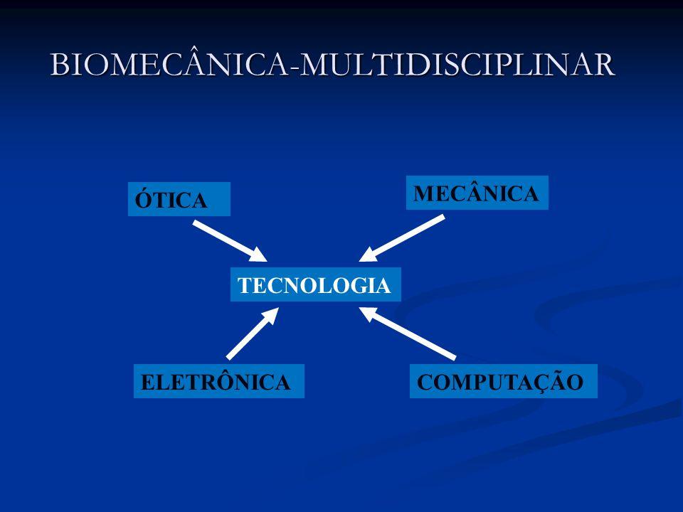 BIOMECÂNICA-MULTIDISCIPLINAR TECNOLOGIA ÓTICA MECÂNICA ELETRÔNICACOMPUTAÇÃO