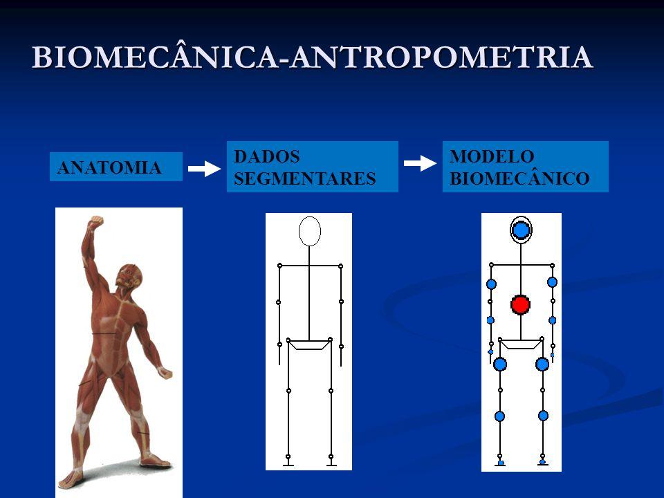 BIOMECÂNICA-ANTROPOMETRIA ANATOMIA DADOS SEGMENTARES MODELO BIOMECÂNICO