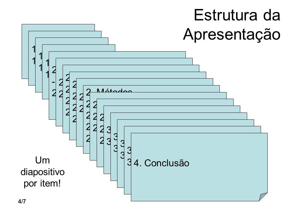 5/7 É PROIBIDO! (diapositivos) Agradecimentos Revisão da Literatura Discussão Obrigado! Fim!