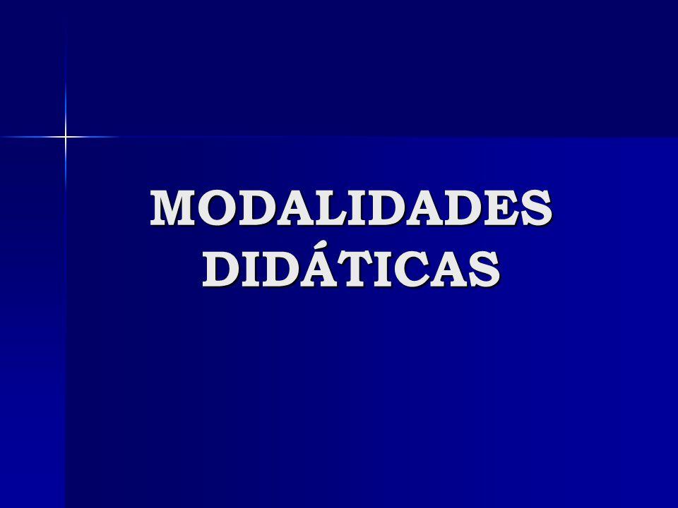 MODALIDADES DIDÁTICAS