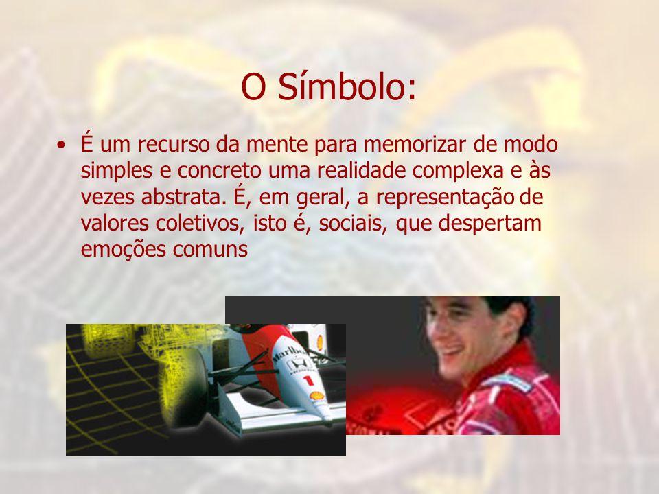 O Símbolo: •É um recurso da mente para memorizar de modo simples e concreto uma realidade complexa e às vezes abstrata.
