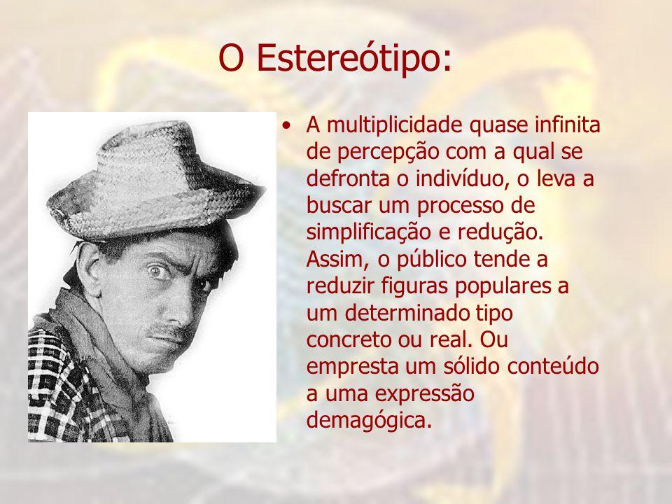 O Estereótipo: •A multiplicidade quase infinita de percepção com a qual se defronta o indivíduo, o leva a buscar um processo de simplificação e reduçã