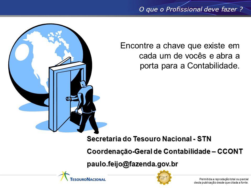 Permitida a reprodução total ou parcial desta publicação desde que citada a fonte. Secretaria do Tesouro Nacional - STN Coordenação-Geral de Contabili