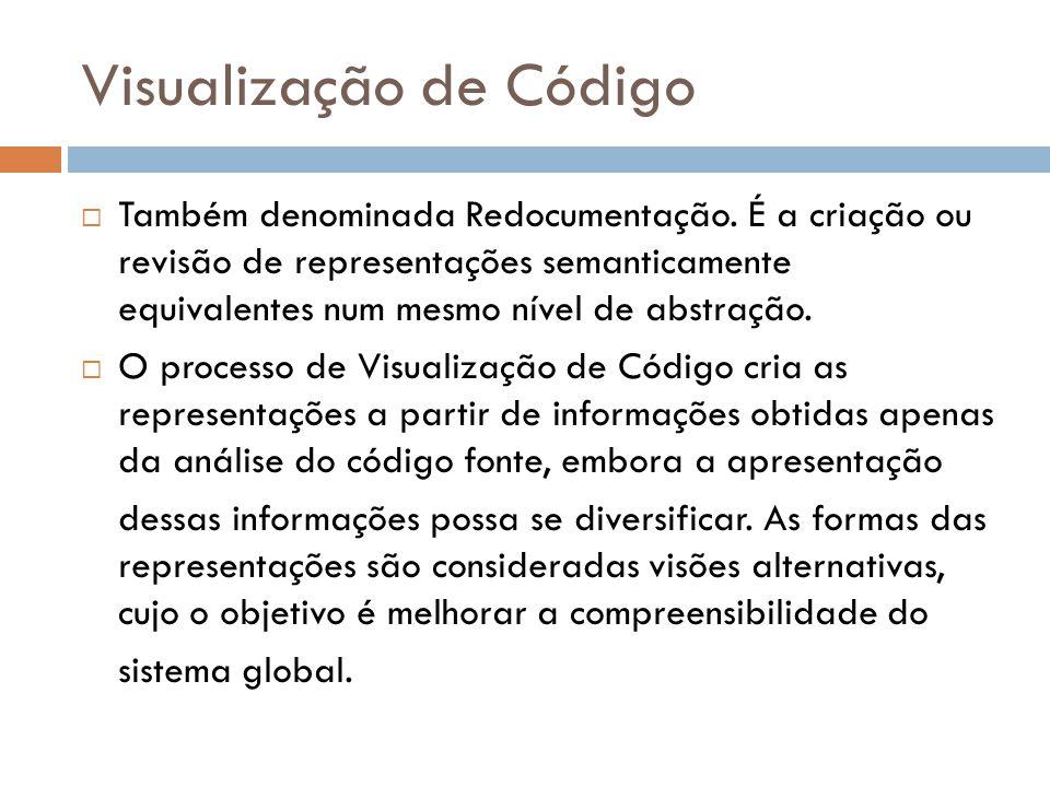 Visualização de Código  Também denominada Redocumentação.