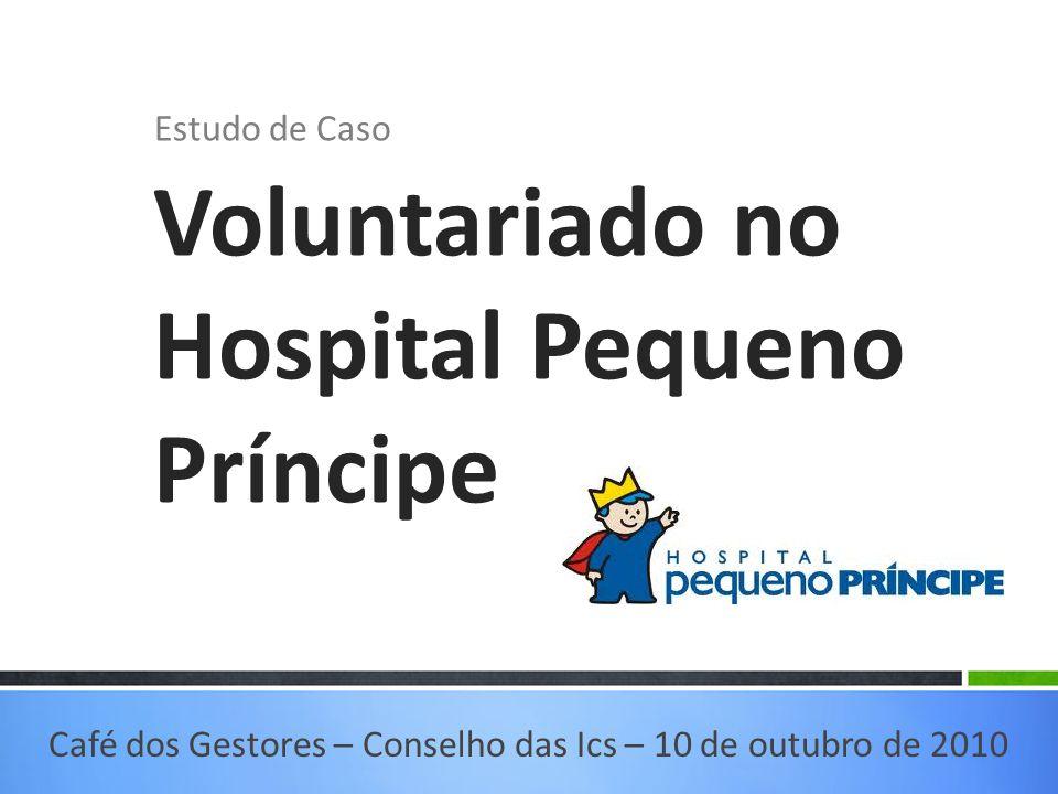 Estudo de Caso Voluntariado no Hospital Pequeno Príncipe Café dos Gestores – Conselho das Ics – 10 de outubro de 2010