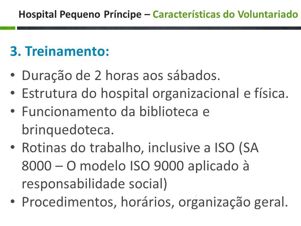Hospital Pequeno Príncipe – Características do Voluntariado 3.